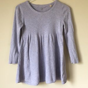 Knitted and knotted sweater sz small lavender